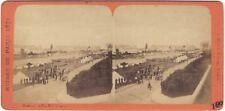 Ruines de Paris Guerre franco-prussienne 2 Photos Stereo Vintage Albumine 1871