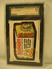 1979 TOPPS WACKY PACKAGES BLUNDER BREAD  SGC 7 GRADED