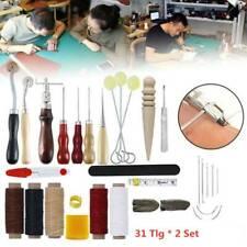 Leder Werkzeug Stitching Craft Hand Nähen Sewing Stitching Groover Set 31x2Sat