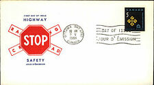 1966 CANADA Day of Issue Cover FDC Ersttagsbrief Stamp Highway Safety Stopschild