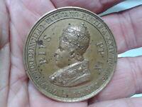 Italien Vatikan verg.Bronze-Medaille 1869 Papst Pope PIUS IX Apostelkonzil Medal