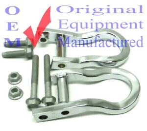 84072462 OEM Front Tow Hooks Chrome Set 2007-19 Chevy Silverado GMC Sierra 1500