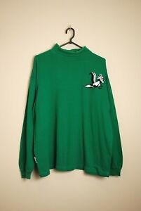 Acme Clothing Warner Bros Pepe le Pew 1993 Turtleneck L/S T-Shirt Size XL