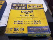 Carburetor Kit 1937 dodge D-5 D-6 D-7  Stromberg A-18432 A-18442 carb Exv-2