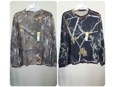*NWT- REALTREE - MEN'S LS WARM KNIT THERMAL HENLEY - LICENSED