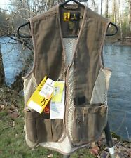 "BROWNING SHOOTING VEST BOY'S M 38"" CHEST REACTAR POCKET L&R SHELL LOOPS NWT"