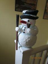 Paper mache snowman christmas decoration