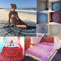 Bohemian Mandala Platz Strand Tapisserie Hippie Werfen Handtuch Decke Indisch