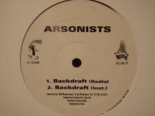 "ARSONISTS - BACKDRAFT b/w HALLOWEEN I & II (12"")  1999!!!  RARE!!!"