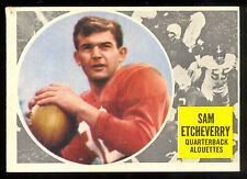 1960 TOPPS CFL FOOTBALL #42 Sam Etcheverry VG-EX ROOKIE Montreal Alouettes rc