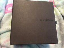 Louis Vuitton small accessory belt box brown LV square box