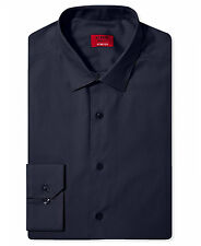 NWT $93 ALFANI Men's SLIM-FIT STRETCH BLUE LONG-SLEEVE DRESS SHIRT 17-17.5 36/37