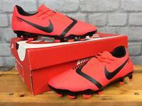 NIKE MENS UK 6 EU 40 RED BLACK PHANTOM VENOM FG FOOTBALL BOOTS LG