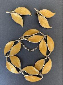 Vintage David Andersen Sterling Silver Guilloche Enamel Bracelet/earrings Set