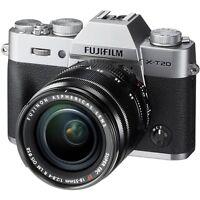 Fujifilm X-T20 24.3MP 4K Camera Silver + XF 18-55mm OIS Fuji Lens (UK)