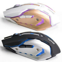 7 Colori Retroilluminato Ricaricabile 2.4GHz Wireless Optical Gaming Mouse