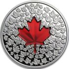 RARE 2013 Canadian Silver Maple Leaf Red Enamel Proof 1oz RARE Low Mint