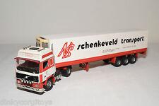 TEKNO VOLVO F12 TRUCK WITH TRAILER SCHENKEVELD SCHIPLUIDEN EXCELLENT CODE 3