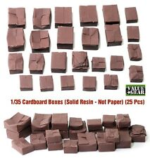 1/35 Cardboard Boxes (solid Resin castings) Value Gear 25 pcs Resin Stowage