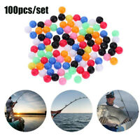 100X Round Mixed Color PE Plastic Stopper Beads for Carp Fishing Rig NEW