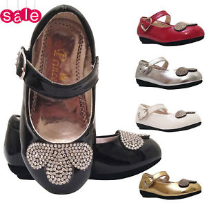 Girls Infant Baby Kids Wedding Bridesmaid Patent Casual Party Sandals Shoes