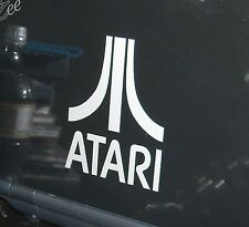 "ATARI Logo Vinyl Decal Sticker WHITE,SILVER, BLACK, RED 1"" 2"" 3"" 4"" 5"""