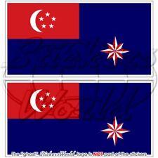 SINGAPOUR Etat Marine Insigne Drapeau Garde côtière Sticker Autocollant 100mm x2