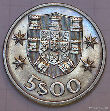 PORTUGAL PIECE NEUVE 5 ESCUDOS CARAVELLE   1979 1985 A1