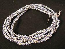 Vieille Strang Perles De Verre Old Blue répartis White Venetian Glass Trade Beads Afrozip