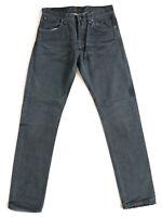 Nudie Herren Regular Fit Jeans | Steady Eddie Black Darkness-1 |W32 L34