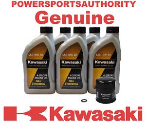 1985 Kawasaki Vulcan 700 VN700 VN700-A1 OEM Full Synthetic Oil Change Kit KAW113