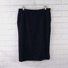 Pendleton Size 14 Wool Skirt Black Long Knee Length Straight Pencil Lined Career