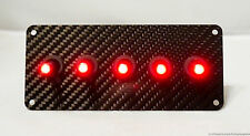 AUTHENTIC CARBON FIBER PANEL w/ LED toggle switches - RED