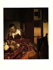 """1981 Vintage VERMEER """"A GIRL ASLEEP"""" GORGEOUS COLOR offset Lithograph"""