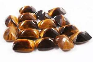 Tiger Eye Octagon Facted Cut Loose Gemstones 4X6MM To 6X8MM Size AAA Quality Lot