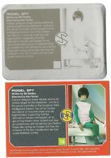 Captain Scarlet Printing Plate for Base Card 15 - Model Spy [ back ]