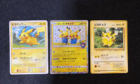 3 Pikachu cards Pokemon Center Limited Promo Comic dialogue Manzai HOLO Tracked