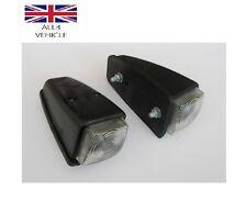 2 X WHITE SIDE MARKER OUTLINE ROOF CABIN LAMP TRUCK BUS PICK UP E-MARKED VAN CE