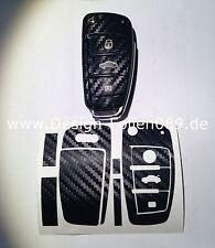 Carbon Schwarz Folie  Schlüssel Audi TT A1 8J A6 A3 8p A4 4F S3 S4 B7 Q7 RS 5 6