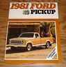Original 1981 Ford Truck Pickup Sales Brochure 81 F-100 F-150 F-250 Ranger