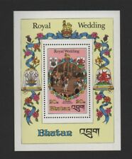 BHUTAN 1981 ROYAL WEDDING M/SHEET *VF MNH*