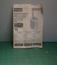 Ryobi P742 18V One+ Radio Operator's Manual (Manual Only)