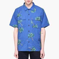 Levi's Skateboarding Blue Short Sleeve Button Down Hawaiian Shirt Size XL