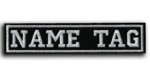 CUSTOM Your Name Tag PATCH Embroidered - Airsoft - Biker / SEW ON