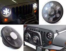 "SHO-ME FARO LED 7"" Hi/Lo DRL Headlight 6500K WRANGLER G-CLASS FJ DEFENDER HARLEY"