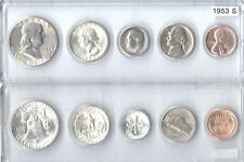 1953-S U.S. Mint Set - 5 Brilliant Uncirculated coins in Whitman plastic holder