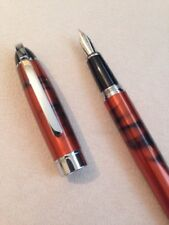 BAOER 517 COPPER & BLACK CHROME TRIM MEDIUM FOUNTAIN PEN-CONVERTER-UK SELLER