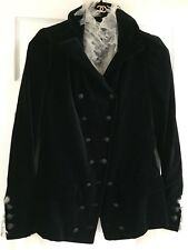 Chanel 05A LIMITED NEW BLACK VELVET JACKET Crystal CC buttons FINE TULLE FR40$8K