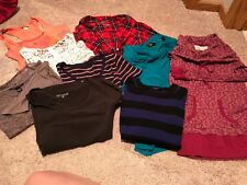 Lot of 9 women's tops, size small, good condition, some brand names
