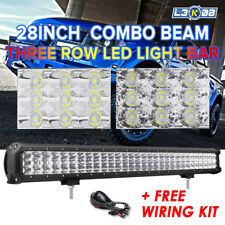 """28Inch Philips LED Light Bar Flood Spot Combo Work Offroad Driving 4x4WD 30"""" 32"""""""
